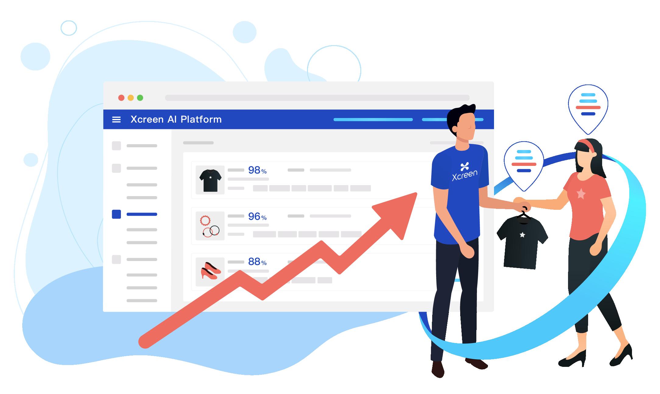 AI智能廣告看板搜集顧客大數據,提供廣告最佳化標籤,提昇受眾精準度。