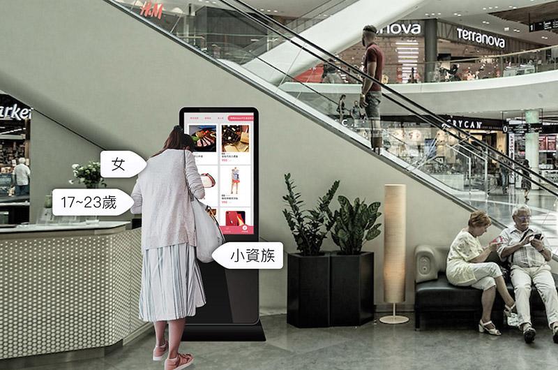AI廣告看板運用AI人工智慧臉部人臉辨識 顧客特徵,精準投放於DOOH戶外廣告看板